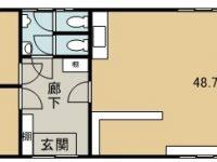 貸テナント M&E 2階 間取り図