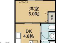 賃貸 我如古マンションⅠ-B 1階 間取り図