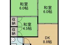 賃貸 我如古マンションⅢ 4階 間取り図