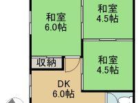 賃貸 まいなみアパート 商談中 3階 間取り図