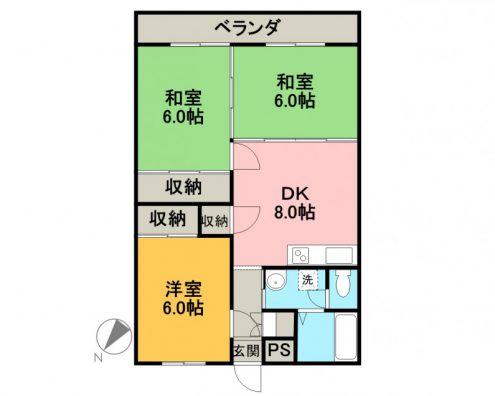パークサイドマンション 502  間取り図