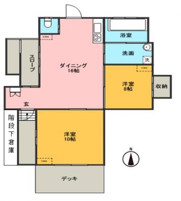 しゅうざん荘 101号室 間取り図