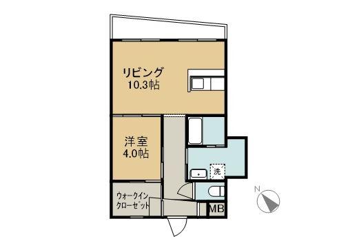 SHIMA SHIMA HOUSE 2B 間取り図