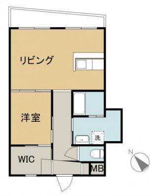 SHIMA SHIMA HOUSE 2-B 間取り図