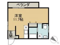 ONE 1 APARTMENTS 間取り図