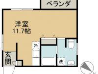 賃貸 ONE 1 APARTMENTS 2階 間取り図