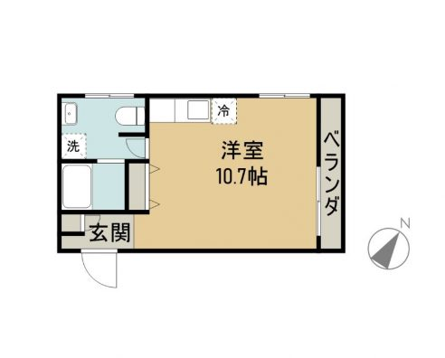 ONE 1 APARTMENTS 3A 商談中 間取り図