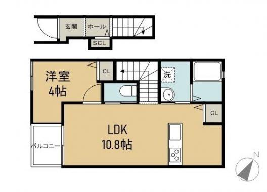 シンアイマンションⅠ 203 間取り図