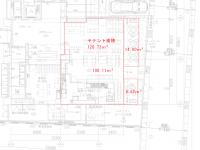 宮古島ホテル計画1階部分(飲食店) 間取り図