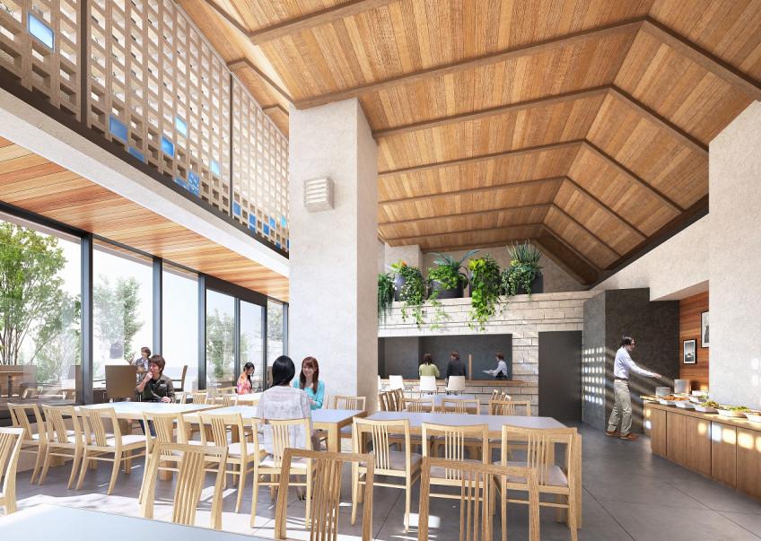 宮古島ホテル計画1階部分(飲食店) 外観
