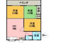 賃貸 ライフマンション 2階 間取り図