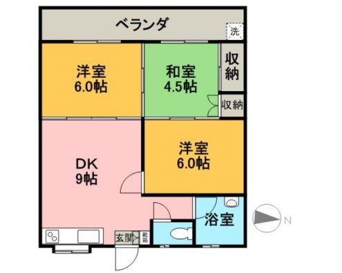 ライフマンション 203 間取り図
