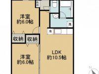 賃貸 プライムオアシスくがい 3階 間取り図