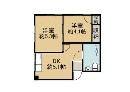 アパートK 201 間取り図