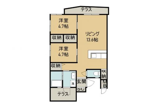 SHIMA SHIMA HOUSE 1D 間取り図