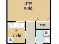 賃貸 グレイスハイツWIDE 4階 間取り図