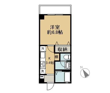 仮)山内共同住宅 2D 間取り図