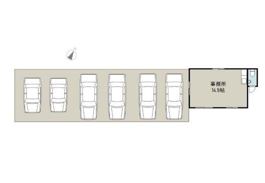 ゴーヤレンタカー事務所 1F 間取り図