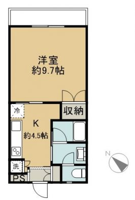 喜納様共同住宅 206 間取り図