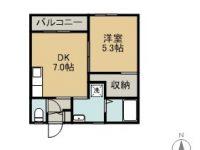 賃貸 荷川取共同住宅C棟 1階 間取り図