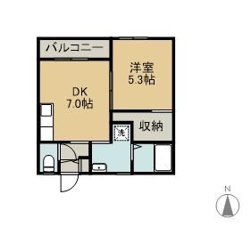 荷川取共同住宅C棟 101 間取り図