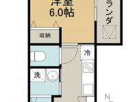 賃貸 COZY KUGAI 3階 間取り図