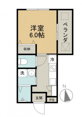 COZY KUGAI C-8 間取り図