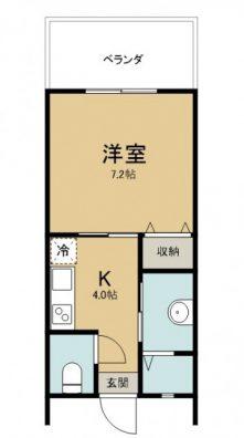 Lib houseⅡ B 間取り図