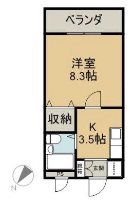 ZUMI HOMEマンション 302 間取り図