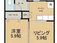 賃貸 KONAハウス 1階 間取り図