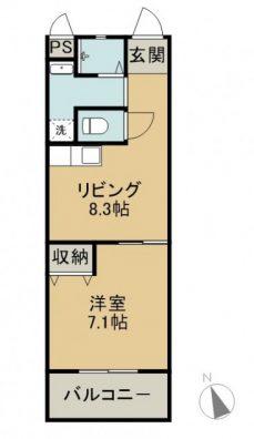 サザンリッチHisamatsu 403 間取り図