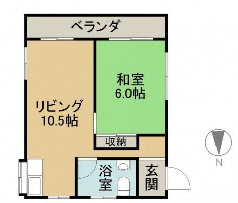 第一平良ビル 3F 間取り図