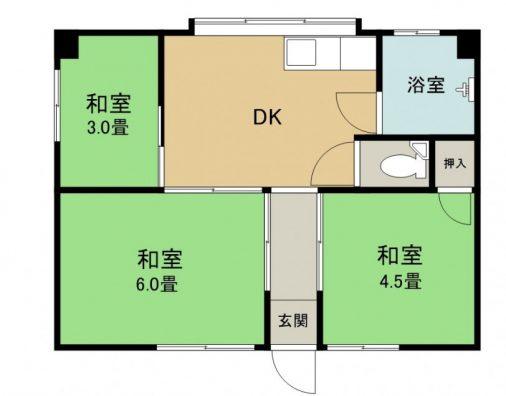 名嘉真アパート 201 間取り図