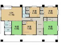戸建 儀間住宅 2階 間取り図