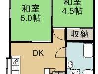 与古田アパ-ト 間取り図
