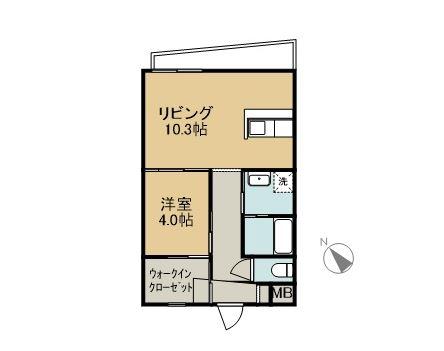 SHIMA SHIMA HOUSE 1C 間取り図