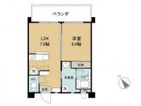 賃貸 Siesta Ⅱ 2階 間取り図