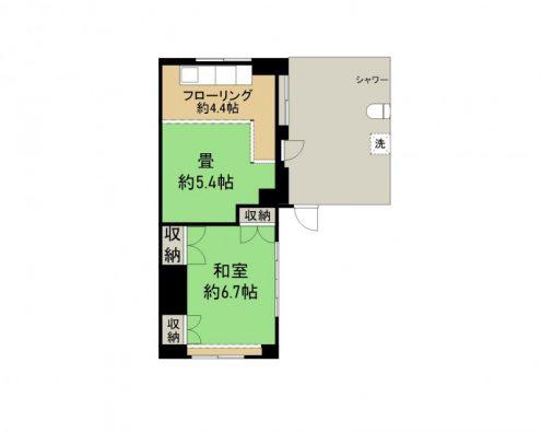 新城アパート 205 間取り図