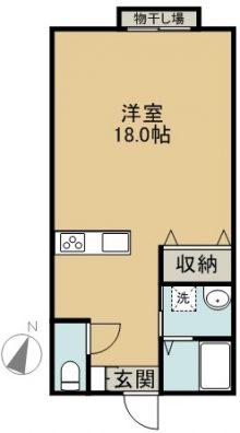 宮古島ハイビスカス 1-C 間取り図