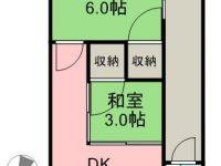 賃貸 のひなアパートB棟 3階 間取り図