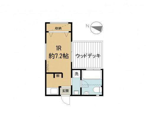 ZUMI terrace 1号室 間取り図